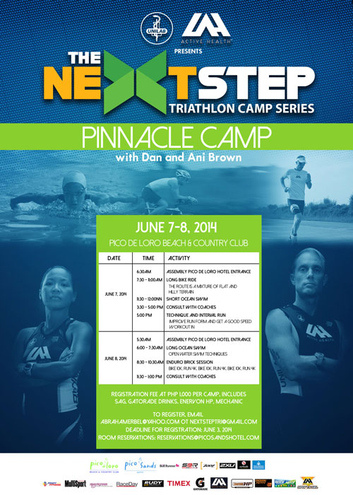 Pinnacle Camp for Triathletes on June 7 to 8